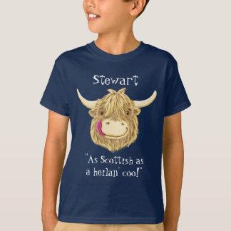 Camiseta Nombre personalizado tan escocés como una vaca de