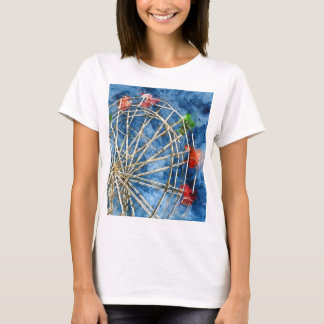 Camiseta Noria de la acuarela en Santa Cruz California