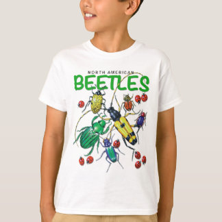 Camiseta norteamericana de los escarabajos