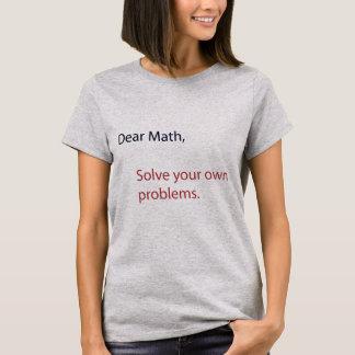 Camiseta Nota a la matemáticas