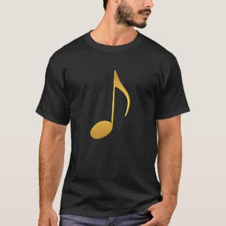 Camiseta Nota de oro de la música