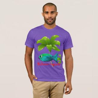 Camiseta Noticias de la isla de los pescados de la turquesa