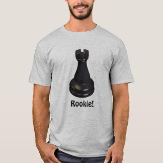 Camiseta ¡NOVATO! Pedazo de ajedrez del grajo