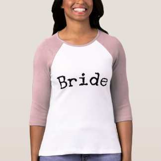 Camiseta novia pasada de moda de la máquina de escribir