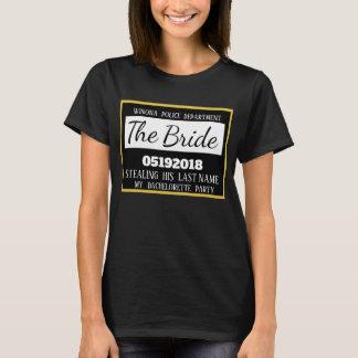 Camiseta Novia personalizada del fiesta de Bachelorette de