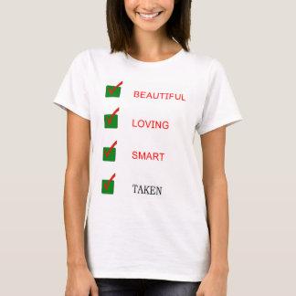 Camiseta Novia tomada elegante de amor hermosa divertida