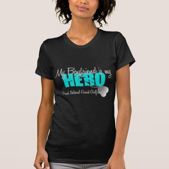 Camiseta Novio de la novia del Guardia Nacional mi héroe