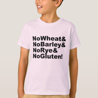 Camiseta ¡NoWheat&NoBarley&NoRye&NoGluten! (negro)