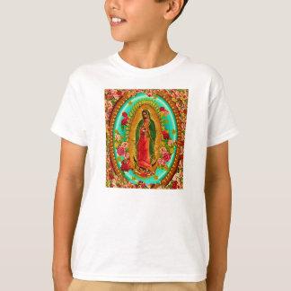 Camiseta Nuestro Virgen María mexicano del santo de señora
