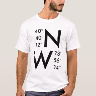 Camiseta Nueva York GPS coordina el | CUALQUIER coordenada