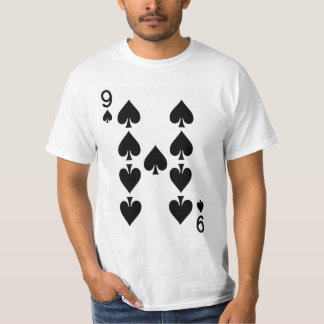 Camiseta Nueve del naipe de las espadas