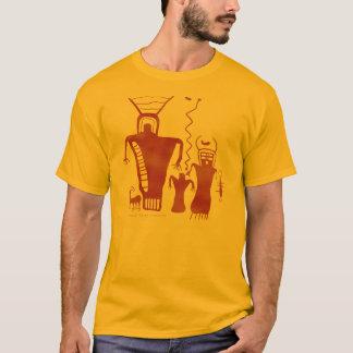 Camiseta Nueve extranjeros del arte de la roca del barranco