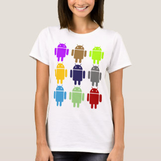 Camiseta Nueve insecto Droids (humor múltiple androide de