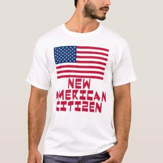 Camiseta Nuevo ciudadano americano con la bandera americana