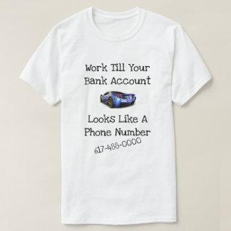 Camiseta Número de teléfono