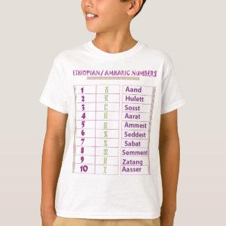 Camiseta Números etíopes/del Amharic