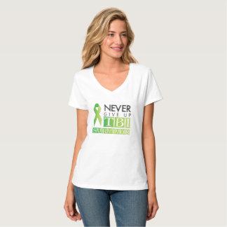 Camiseta Nunca dé para arriba: Superviviente de TBI