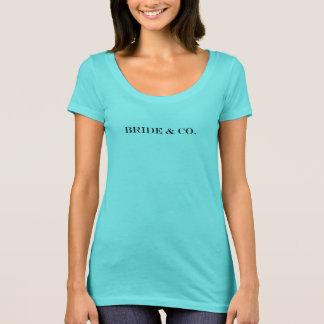 Camiseta nupcial azul del fiesta del trullo de la