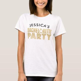 Camiseta nupcial de los tops del fiesta de
