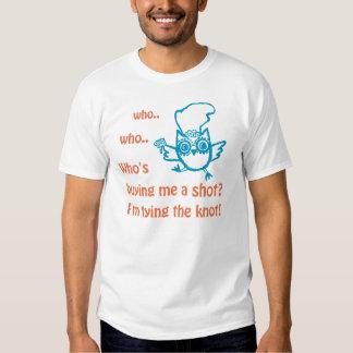 Camiseta nupcial del búho de la ducha