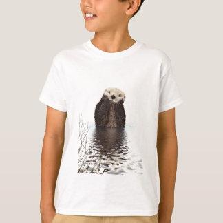 Camiseta Nutria sonriente adorable en el lago