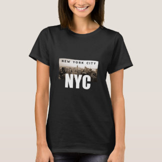 Camiseta NYC New York City. Horizonte. América, los