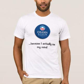 Camiseta Obama,… porque utilizo realmente mi mente