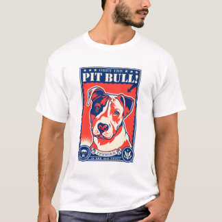 Camiseta ¡Obedezca el pitbull!