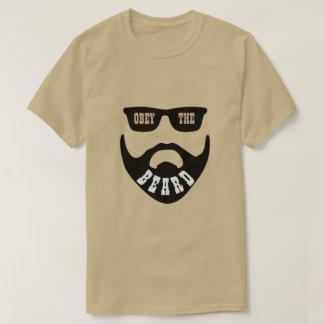 "Camiseta Obedezca la barba Brown ""ojos """