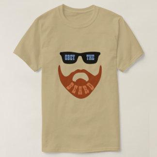 """Camiseta Obedezca ojos azules """" de la barba (del rojo) los"""