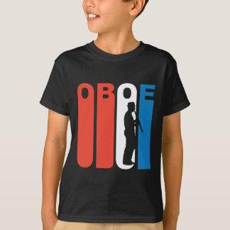 Camiseta Oboe blanco y azul rojo