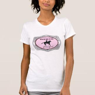 """""""Camiseta occidental de las señoras de la vaquera Camiseta"""