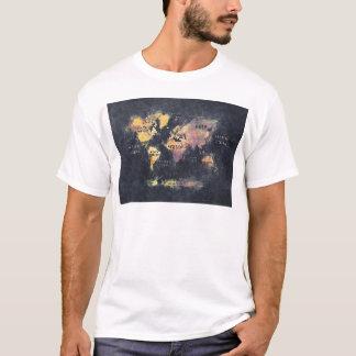 Camiseta OCÉANOS y continentes del mapa del mundo