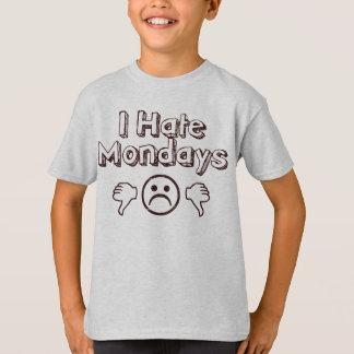 Camiseta Odio lunes