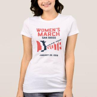 Camiseta oficial de marzo San Diego de las mujeres