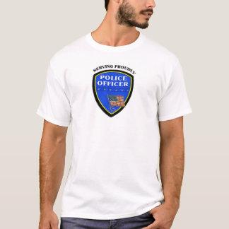 Camiseta Oficiales de policía que sirven orgulloso
