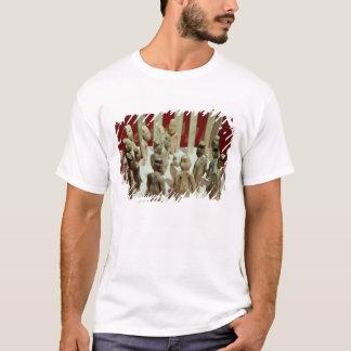 Camiseta Ofrecimiento de dieciséis figuras masculinas, del