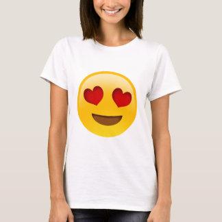 Camiseta Ojos del corazón de Emoji T-Paita
