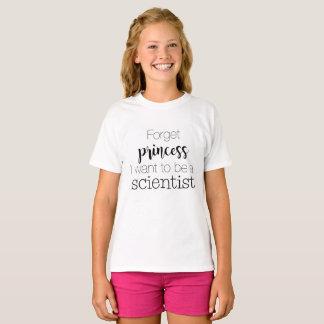 Camiseta Olvide a princesa I Want To Be un científico
