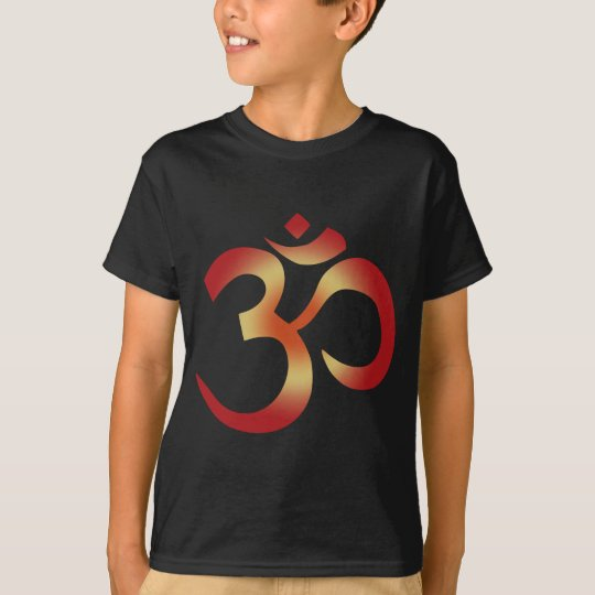 Camiseta OM sánscrito en colores de la puesta del sol