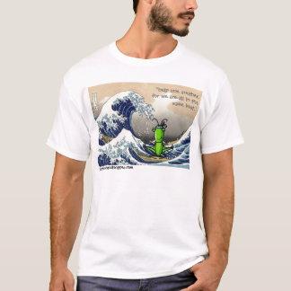 Camiseta Onda grande, pequeño saltamontes