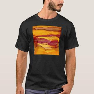 Camiseta ondas ambarinas del grano