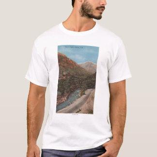 Camiseta Opinión y río del barranco de Ogden, de Utah - de