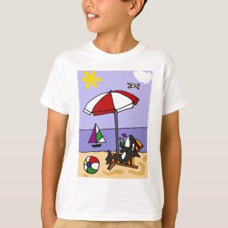 Camiseta Orca divertida en el arte de la playa