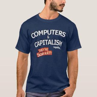Camiseta ordenadores y capitalismo