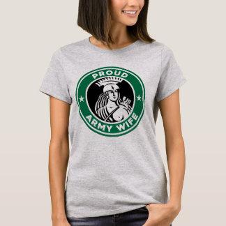 Camiseta orgullosa de la esposa del ejército