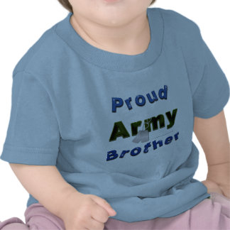 Camiseta orgullosa del niño de Brother del ejércit