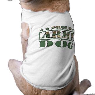 Camiseta orgullosa del perro de ejército