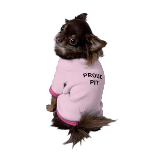 Camiseta orgullosa del perro del hoyo ropa de perros