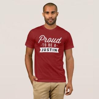 Camiseta Orgulloso ser un Justin